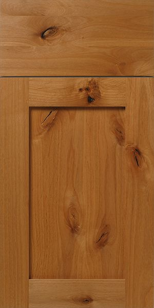 Rustic Knotty Alder Shaker Cabinet Door  WalzCraft can
