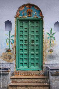 Traditional Indian door by Alexander Grabchilev #stocksy # ...
