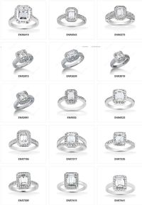 So many different types!!! halo-emerald-engagement-rings ...