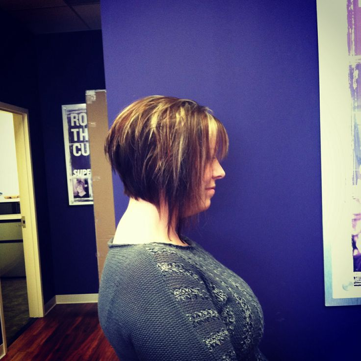 Dramatic inverted bob with choppy layers  My work  Pinterest  Bobs Inverted bob and Choppy
