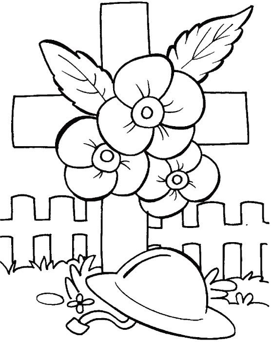 Anzac Soldier Coloring Page