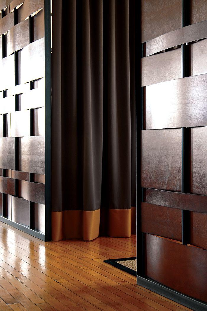 Wood Amp Steel Basket Weave Detail Modern FAB DESIGN I