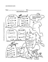 Provide #Halloween math practice with this worksheet. Students must find the missing factors to