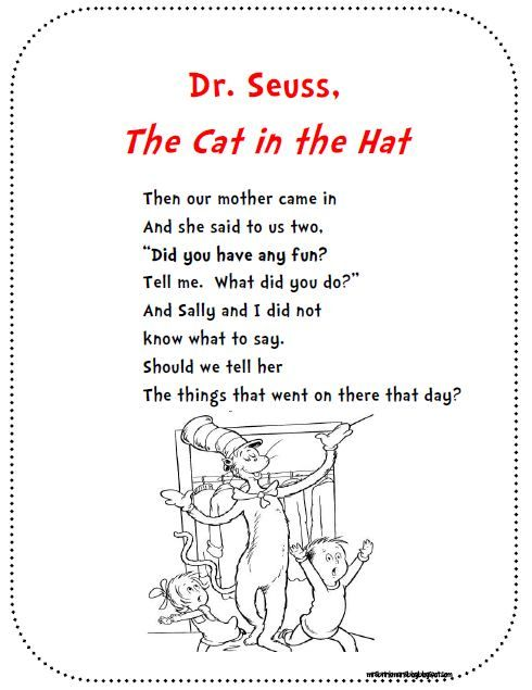 FREEBIE! An excerpt from The Cat in the Hat that our first