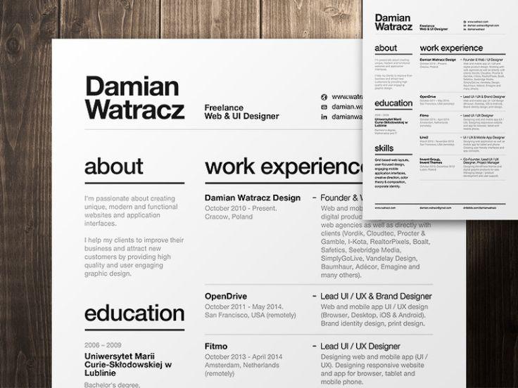 modern elegant font for resume