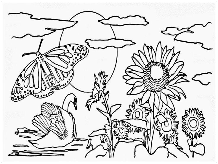 Gambar Sketsa Gambar Hitam Putih Mewarnai Anak Perempuan