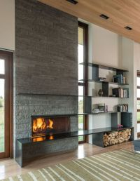 25+ best ideas about Modern Stone Fireplace on Pinterest