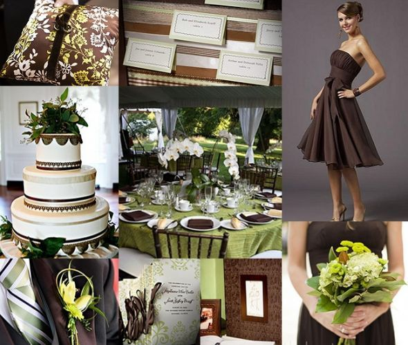 chocolate crean and sage weddings  Chocolate Brown and Sage Green Wedding  ChocolsateSage