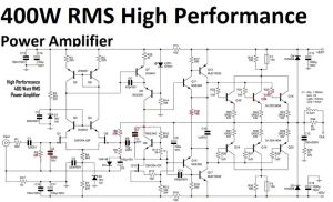 400W High Performance Power Amplifier circuit | Audio Schematic | Pinterest