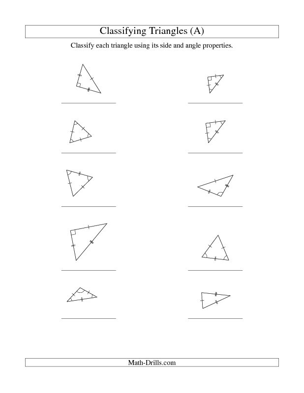 New 2013-03-09! Classifying Triangles by Angle and Side