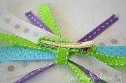 diy scrap ribbon hair bow tutorial