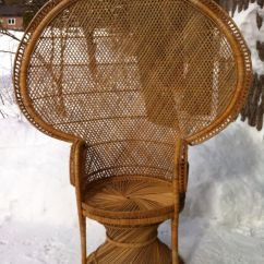 Bedroom Chairs Ebay Bed Bath And Beyond Folding Vintage Wicker Rattan Peacock Fan- Back Chair | Philippines Furnitures Pinterest ...