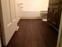 Vinyl bathroom flooring...