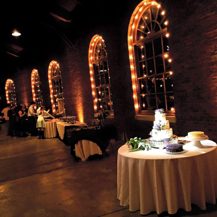 Wedding at the RoundhouseHuntsville Lighting by Steve Metz  Venue  The Roundhouse at the