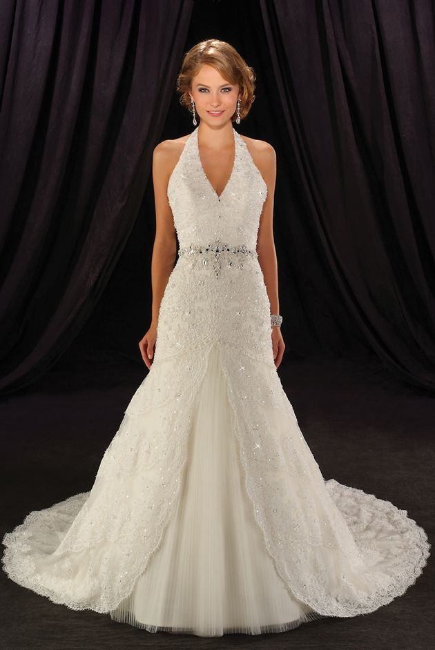 25 best ideas about Halter wedding dresses on Pinterest  Halter style wedding gowns Lace
