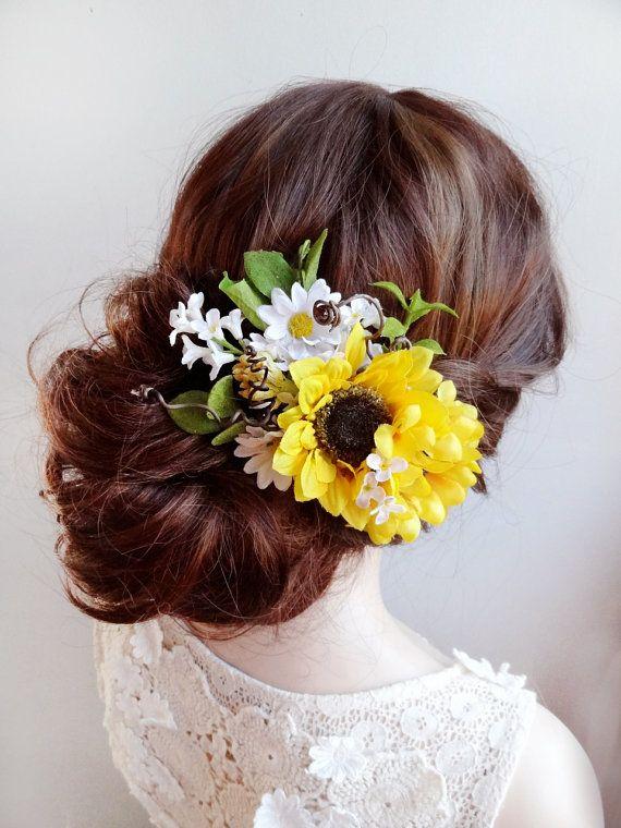 Sunflower Hair Clip Sunflower Hair Comb Daisy Hair By