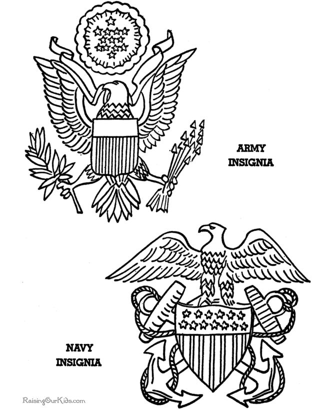 Armed Forces Emblem Coloring Pages