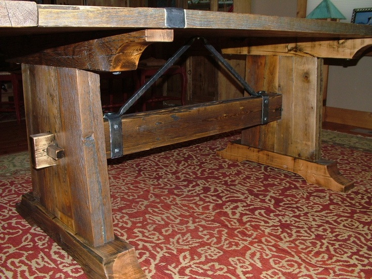 17 Best ideas about Barnwood Dining Table on Pinterest