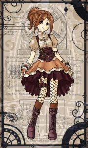 steampunk dress. female