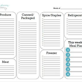 Our new and improved FREE printable grocery list template