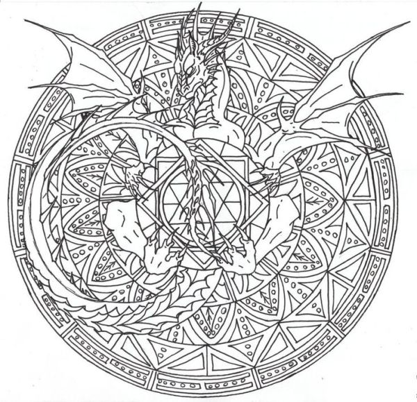 116 best images about Dragon Coloring Page on Pinterest