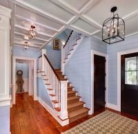 basement staircase and wall plank idea | Oxford Park ...