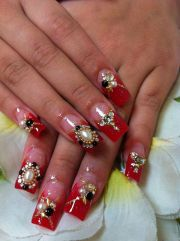 nail design tips red