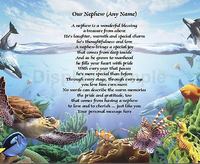 Personalized Poem For Nephew Birthday Or Christmas Gift Under The Sea Print Poems We And The