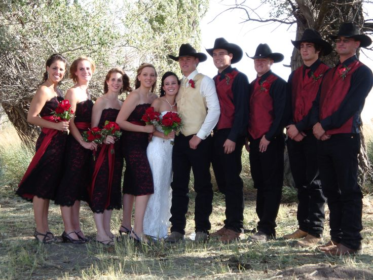 cowboy Wedding Groomsmen Attire  Western Wedding