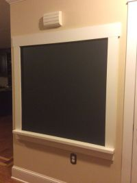 DIY framed chalkboard wall | chaulk things | Pinterest ...