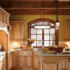 Colored Kitchen Cabinets Table Nook Blakely Maple Palomino Glaze By Thomasville Cabinetry ...