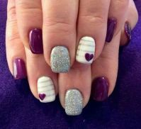 25+ best ideas about Valentine nail designs on Pinterest ...