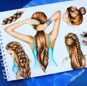 ideas drawing hair