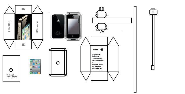 Papercraft iPhone 4 by paperkraft. download link for