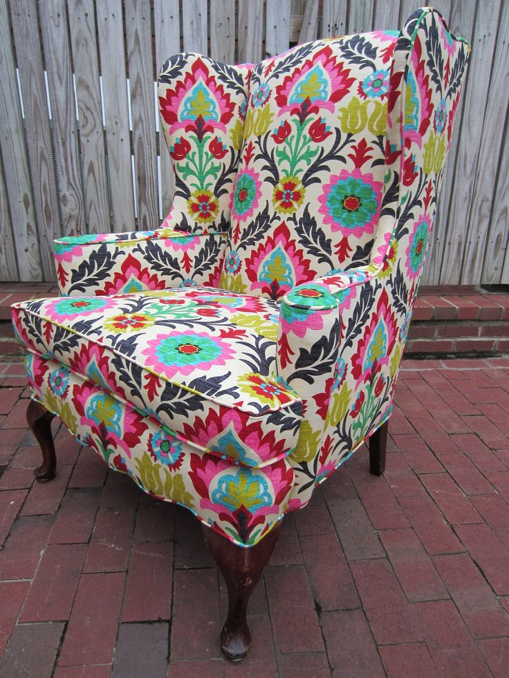 Accent Chair  Lilac  Patterned chair Patterns and Fabrics