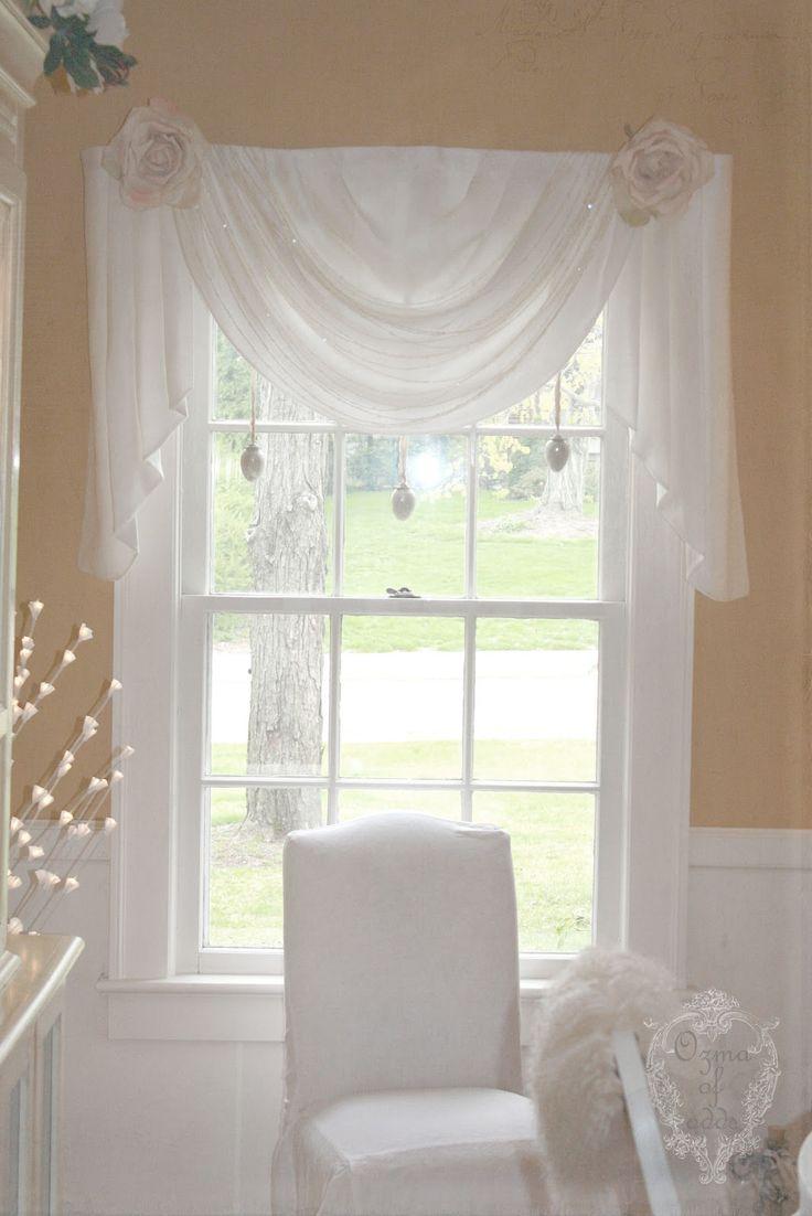 Best 20 Window Scarf ideas on Pinterest  Curtain scarf ideas Curtain ideas and Drapery ideas