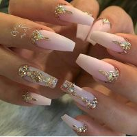 17+ best ideas about Rhinestone Nails on Pinterest ...