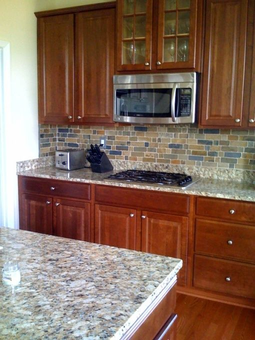 kitchen counters and backsplash appliance package deals sears slate with cherry cabinents | nepoli garnite ...