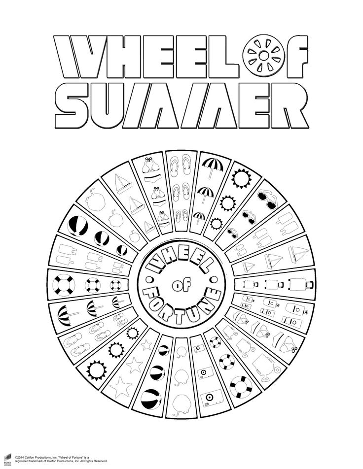 Spinning Wheel Colouring Pages Sketch Coloring Page