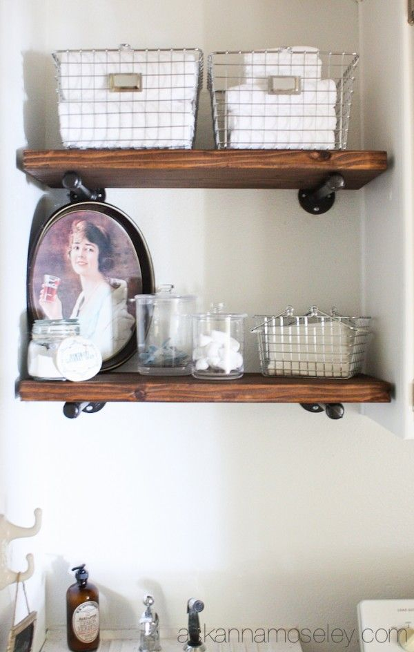 DIY Industrial Shelves Tutorial  Industrial shelves