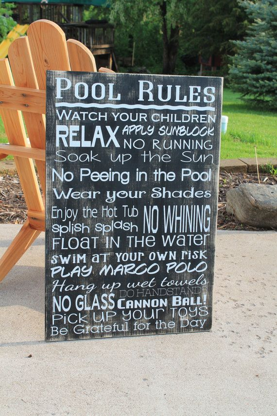 1000+ ideas about Pool Rules on Pinterest