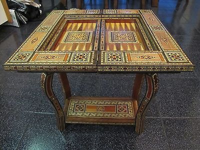 Syrian Mosaic Game Table  Chess  Backgammon  Game