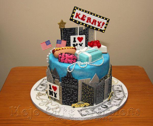 New York Themed Cake  Jared's Bar Mitzvah 111514