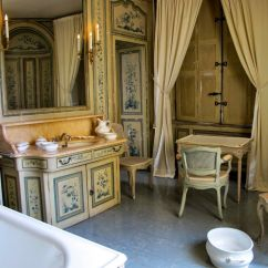 Bedroom Vanity Chair Barcelona Leather Cushions Bathroom In French Chateau | Baths And Powder Rooms Pinterest French, ...