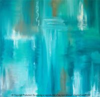 Large canvas wall art, Teal abstract artwork, Turquoise