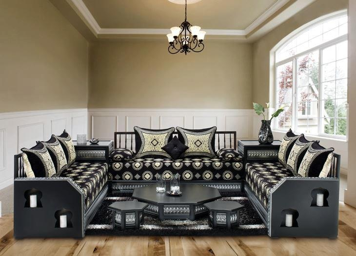 arabic style living room ideas decorating with sectional sofa salon marocain | sedari pinterest and ...