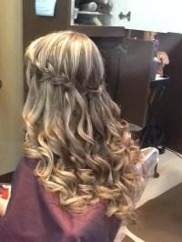 Cascade braid, long hair - Great formal hair style ...