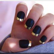 cute black matte nails