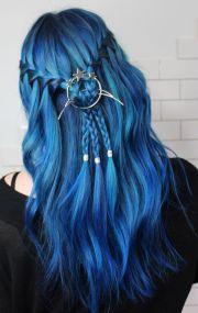 ideas blue hairstyles