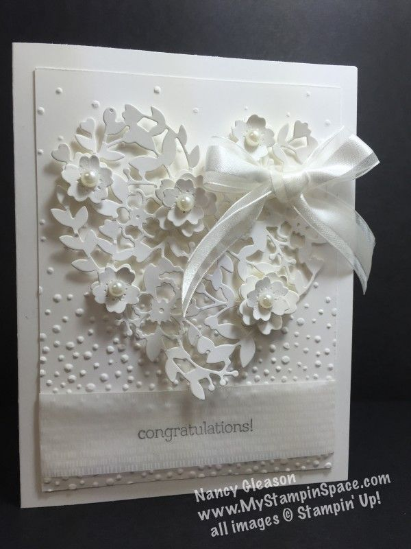 1000 images about WEDDING CARDS on Pinterest  Heart cards Embossing folder and Anniversary cards